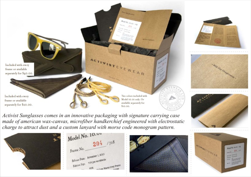Innovative Packaging, Activist Eyewear Cardboard Packaging