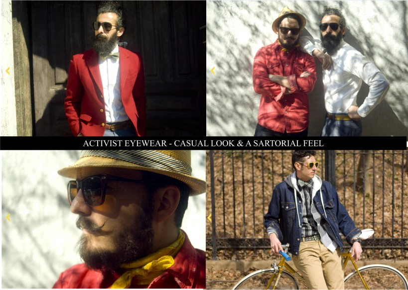 Activist Eyewear Casual Look, Sartorial Look