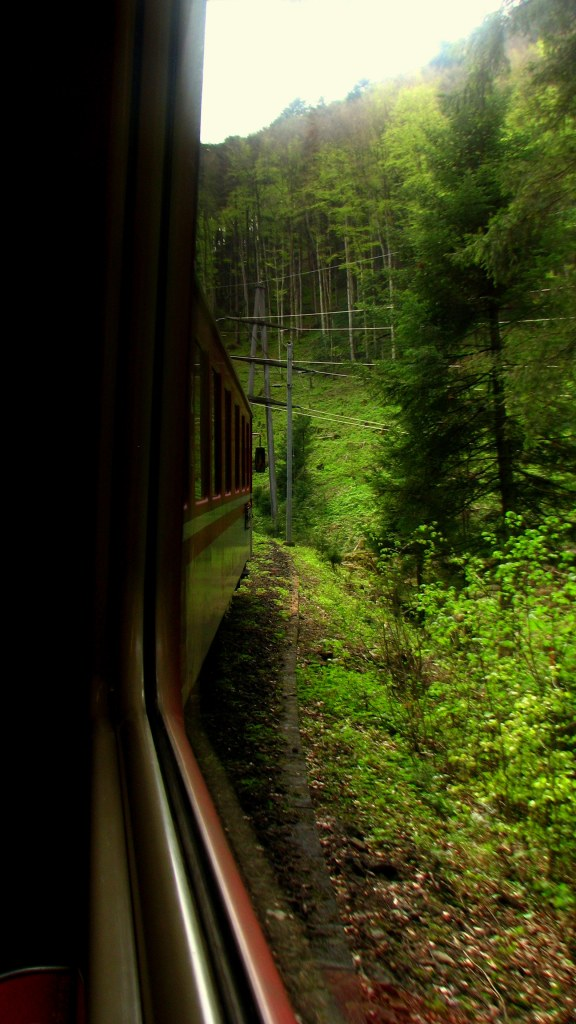train ride on Swiss Rail