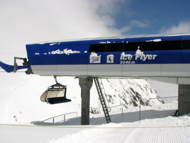 Iceflyer on Mt. Titlis