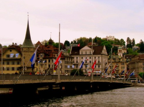 Lucerne Bridge, Lucerne, Bridge on Lake Lucerne