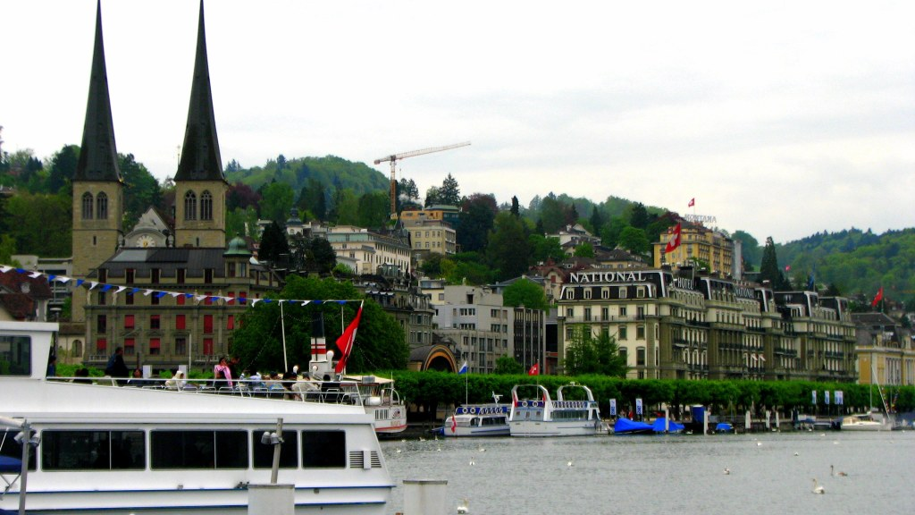 Cruising on Lake Lucerne, Switzerland, Lake Lucerne, cruise ride,