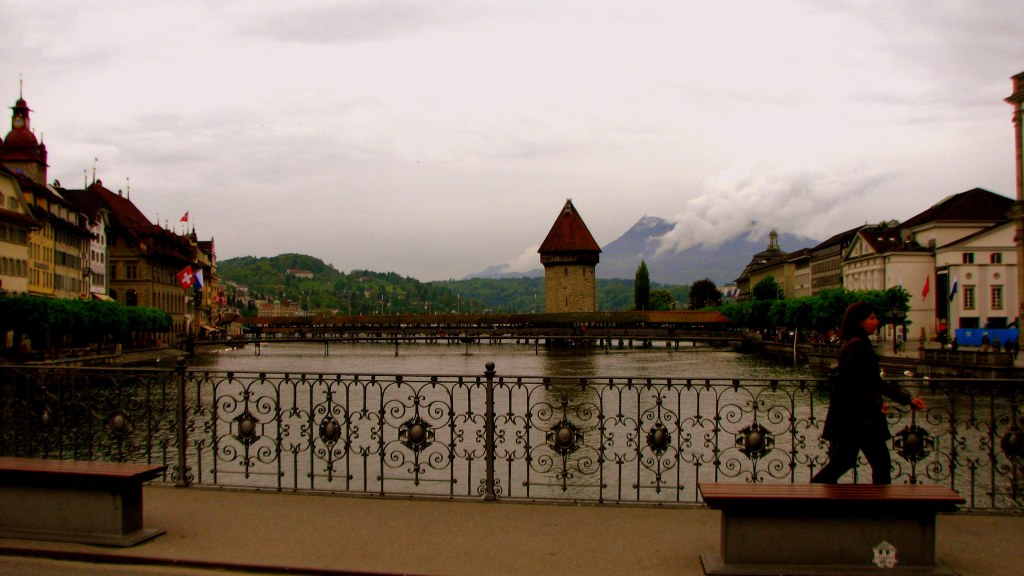 Octagonal Watch Tower on Chapel Bridge, Lucerne, Switzerland