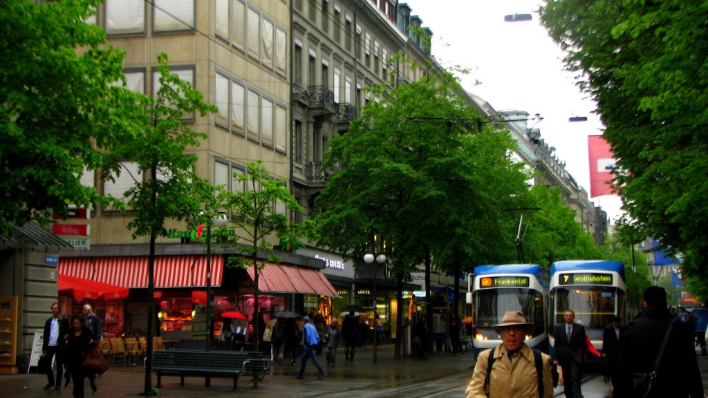 Zurich's Shopping district, Zurich, Switzerland